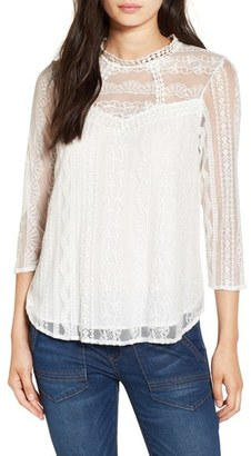 Leith Embroidered Lace Top $69 thestylecure.com