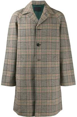 Prada checked single-breasted coat