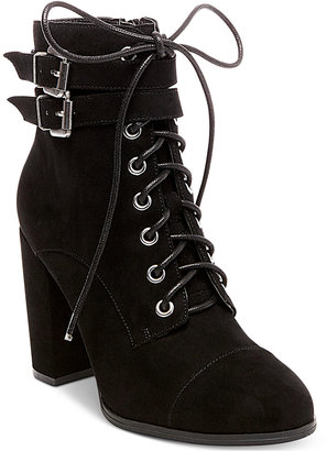 Madden Girl Klaim Combat Booties Women's Shoes $79 thestylecure.com