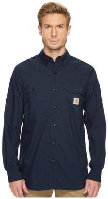 Carhartt Force Ridgefield Solid Long Sleeve Shirt Men's Long Sleeve Button Up