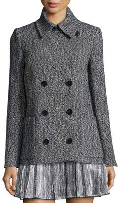 Zadig & Voltaire Miles Deluxe Double-Breasted Coat, Gris