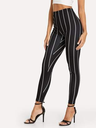 Shein High Rise Striped Leggings