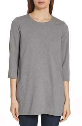 Eileen Fisher Crewneck Organic Cotton Tunic