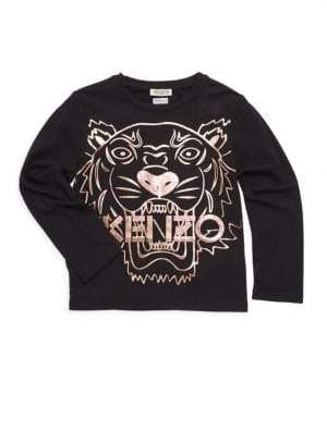 Kenzo Little Girl's& Girl's Copper Tiger Graphic Tee