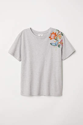 H&M T-shirt with Motif - Gray