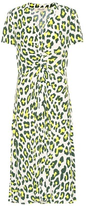 Diane von Furstenberg Cecilia leopard-print midi dress