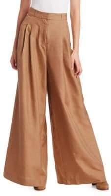 Zimmermann Unbridled Silk Wide-Leg Pants