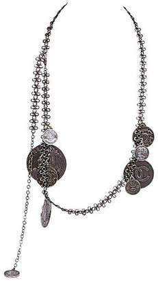 One Kings Lane Vintage Chanel Gunmetal Coin Belt/Necklace