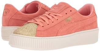 Puma Kids Suede Platform Glam Girls Shoes