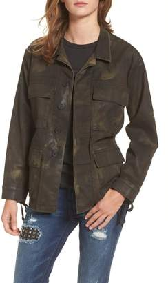 True Religion Brand Jeans Coated Military Jacket