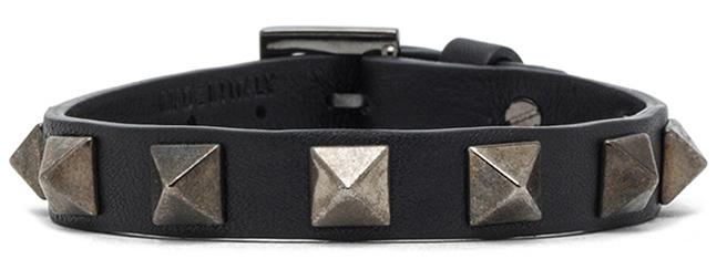 Valentino Small Rockstud Calfskin Bracelet