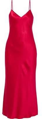 Cinq à Sept Emmalyn Silk-Satin Midi Slip Dress