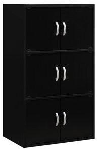 Hodedah 3-Shelf, 6-Door Multipurpose Cabinet, Multiple Colors