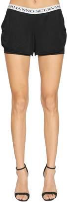 Ermanno Scervino Logo Waistband Lycra Shorts