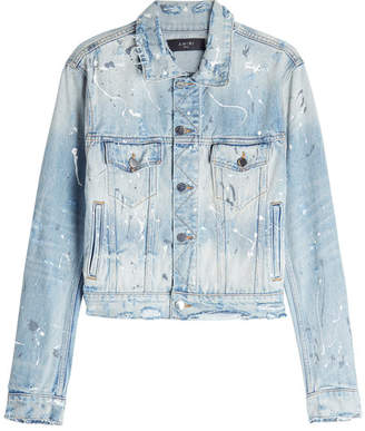 Amiri Distressed Denim Jacket