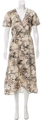Zero Maria Cornejo Wrap Midi Dress w/ Tags