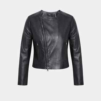 Theory Leather Clean Moto Jacket