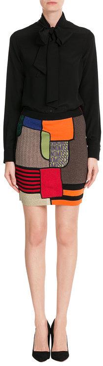 MoschinoMoschino Printed Virgin Wool Skirt