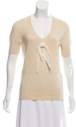 Louis Vuitton Short Sleeve Cashmere Sweater