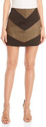 Very J Chevron Suedette Mini Skirt