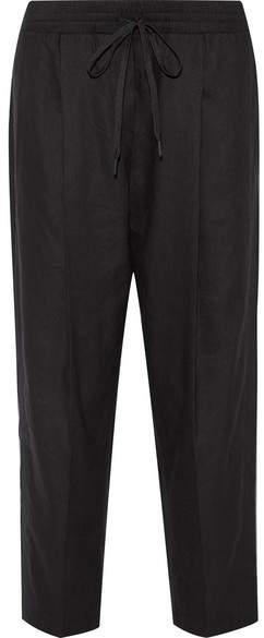DKNY - Linen-blend Tapered Pants - Black