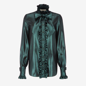 Rouched Pussy Bow Blouse $995 thestylecure.com