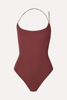 Alix Kane Stretch-jersey Thong Bodysuit - Chocolate