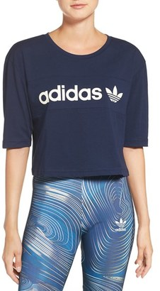 adidas Originals 'BG' Crop Cotton Tee $90 thestylecure.com