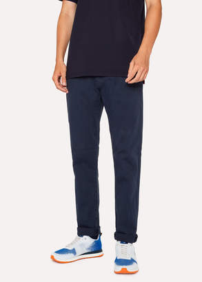 Paul Smith Men's Tapered-Fit Navy Garment-Dye Jeans