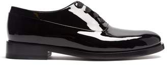 Valentino Patent Leather Oxford Shoes - Mens - Black