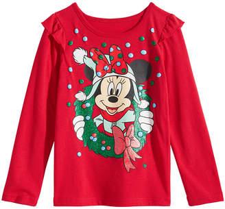 Disney Toddler Girls Minnie Mouse Wreath T-Shirt