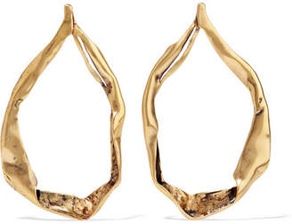 TOM FORD - Gold-tone Hoop Earrings - one size $590 thestylecure.com
