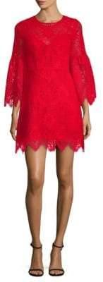 BCBGMAXAZRIA Lace A-Line Bell-Sleeve Dress