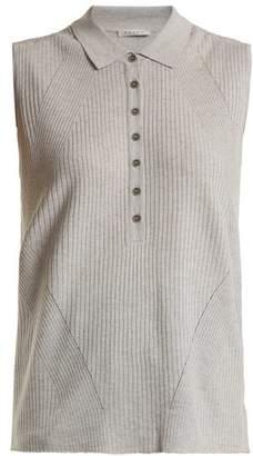 Falke Golf Ribbed Knit Sleeveless Top - Womens - Light Grey
