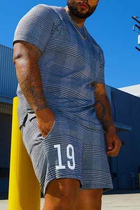 Big & Tall Check Jersey Short