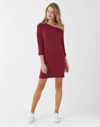 Splendid Super Soft Brushed French Terry Off Shoulder Dress