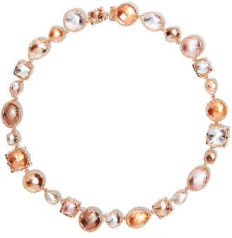 Larkspur & Hawk Sadie Large Riviere Necklace in Multi-Peach