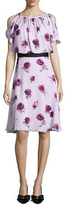Kate Spade New York Silk Chiffon Encore Rose Dress, Plum Dawn $478 thestylecure.com