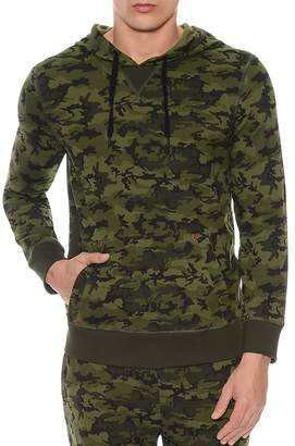 2xist Camouflage Terry Pullover Hoodie Lounge Sweatshirt