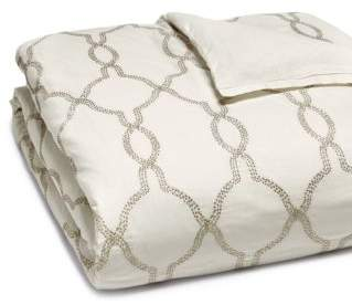 Hudson Park Collection Seed Stitch Trellis Duvet Cover, Full/Queen - 100% Exclusive