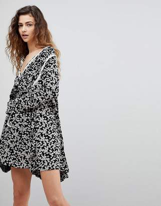 Free People Like You Best Ditsy Floral Print Dress