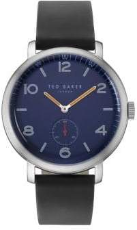 Ted Baker Analog Leather-Strap Watch