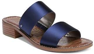 Sam Edelman Women's Jeni Satin Block Heel Slide Sandals