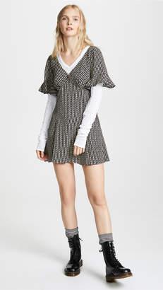 Marc Jacobs Redux Grunge Short Sleeve Mini Dress