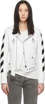 Off-White White Diag Regular Biker Jacket