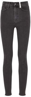 Current/Elliott Grey High-rise Skinny Jeans