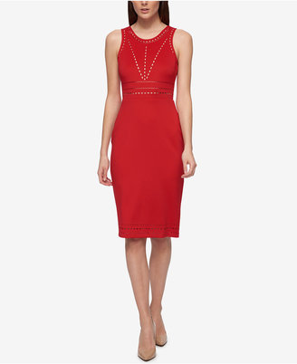 Guess Perforated Sheath Dress $118 thestylecure.com
