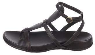 Hogan Leather Cage Sandals