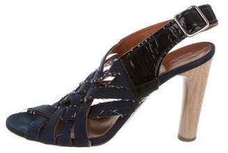 Lanvin Distressed Crossover Sandals
