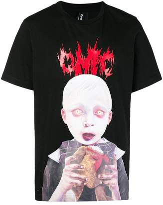 Omc horror print T-shirt